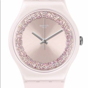 PINK SPARKLES SWATCH NEW IN PACKAGE